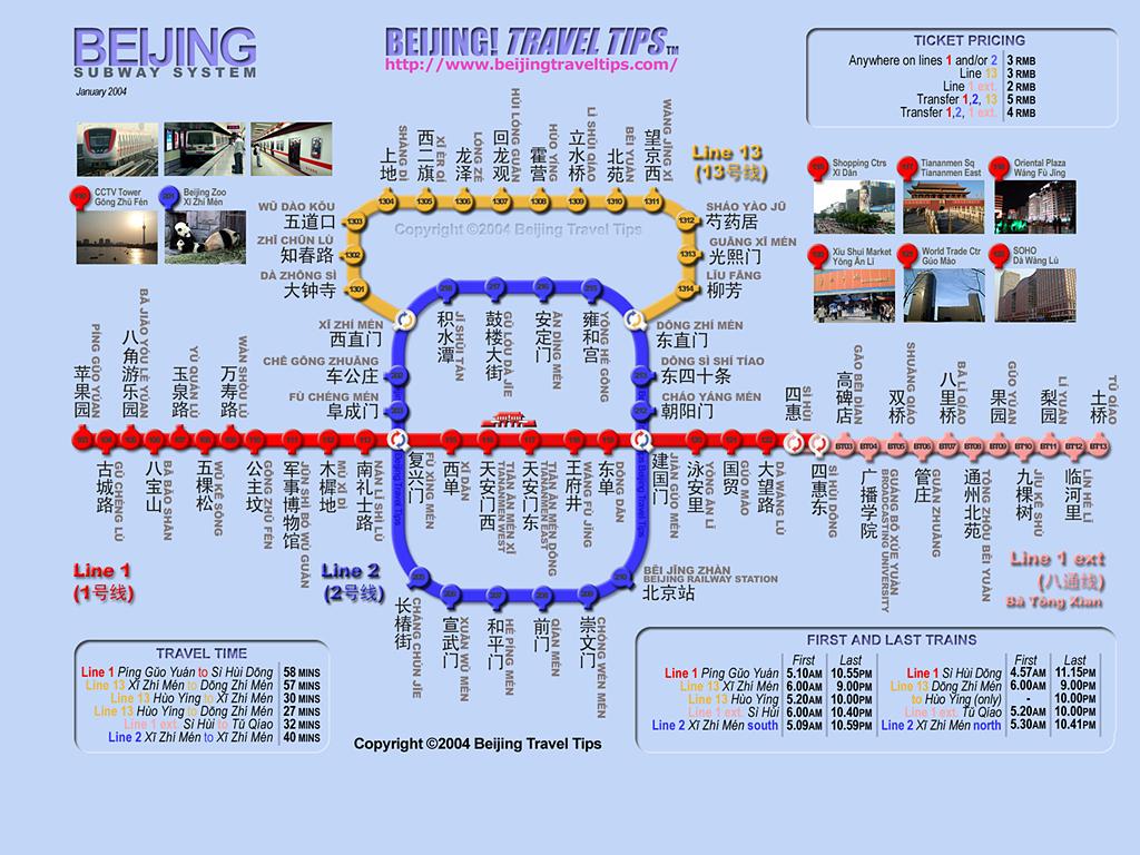 Metro map beijing.